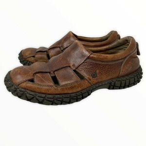 Børn Brown Leather Sandal Size 11.5